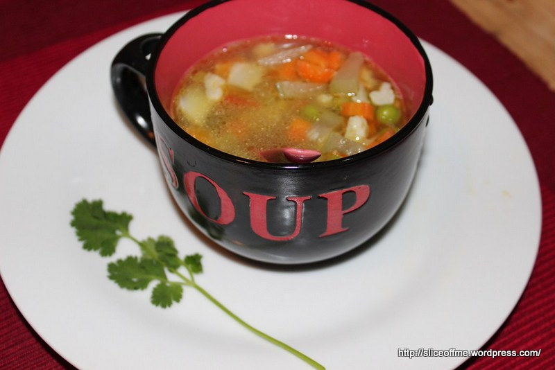 wholesome goodness of vegetables in a broth!