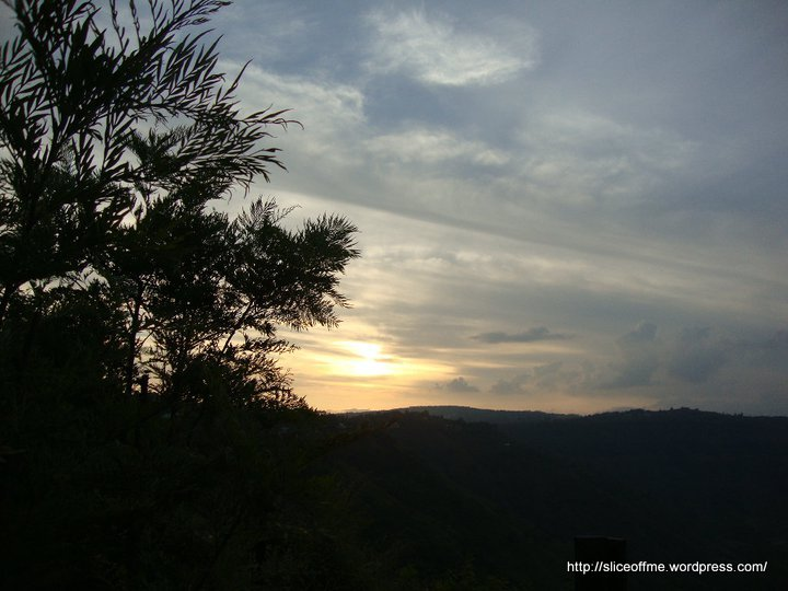Beautiful Sun Set from Eco Camps at Panchgani