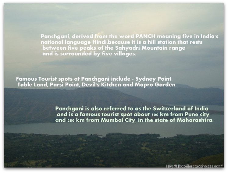 Touristy things to do while in Panchgani