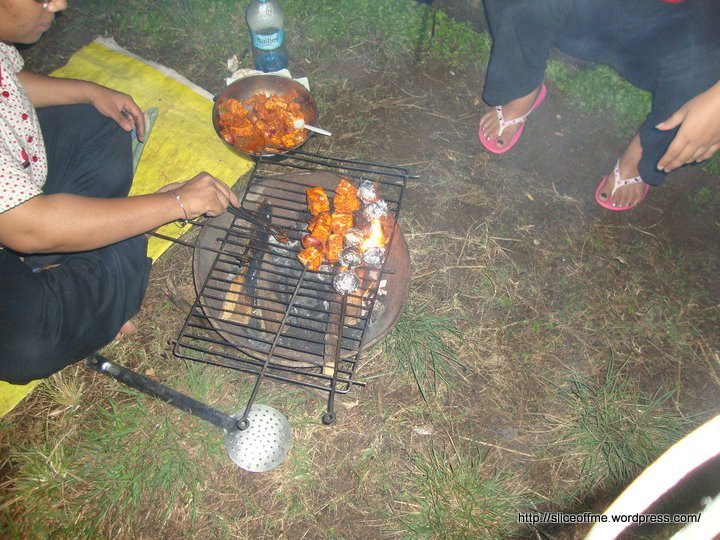 Barbecue Time at Eco Camp,Panchgani