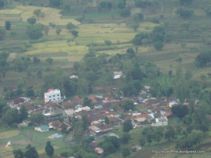 View of the Village below