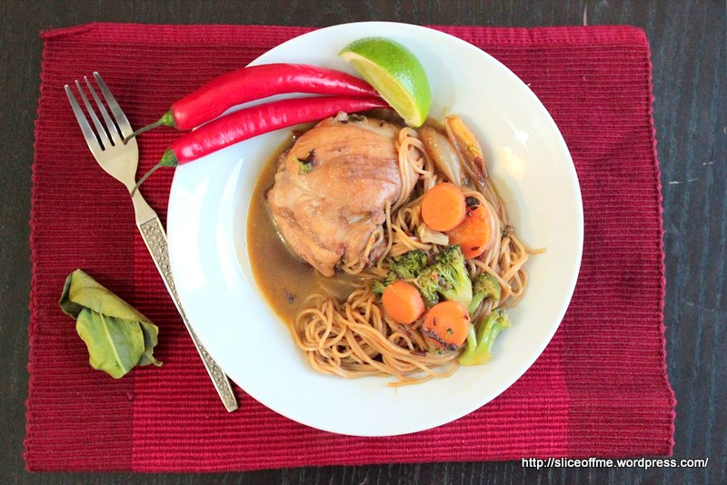 One stock pot chicken and noodle dinner
