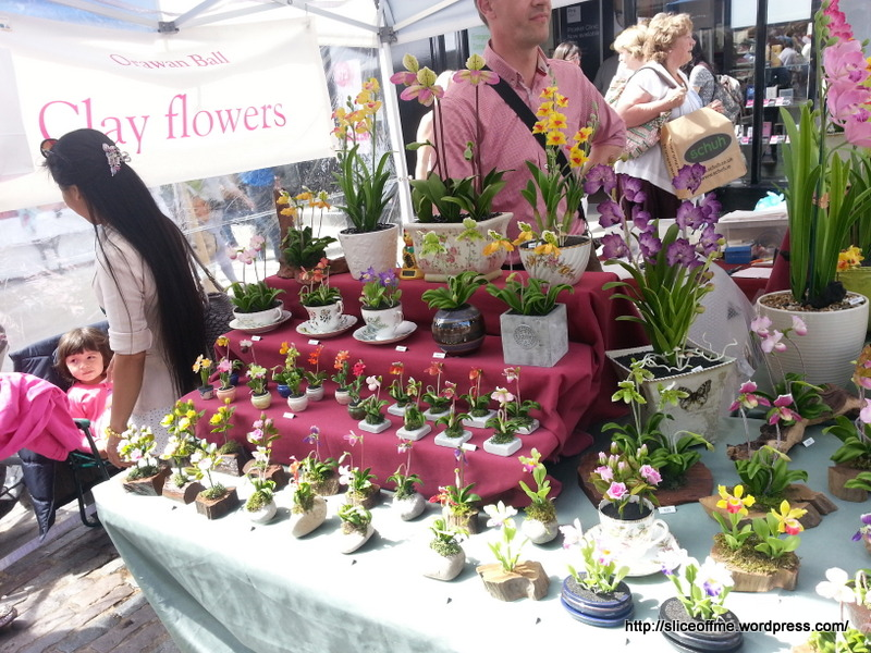 Cute Clay Flower Stall