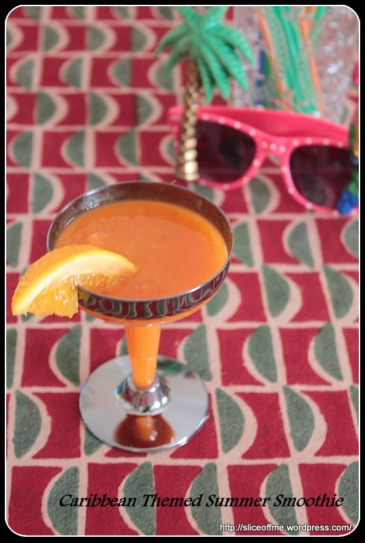 Carribean Themed Summer Smoothie