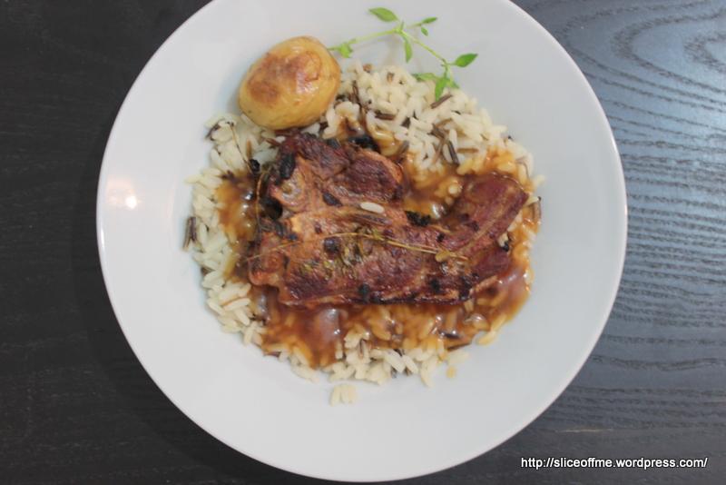 Wild Rice,Roast Lamb and roast potatoes with gravy