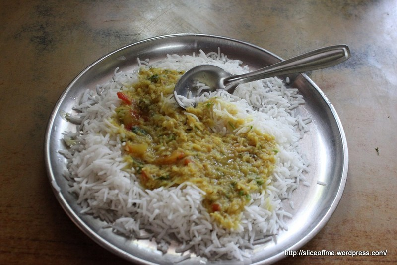 dal-rice plate
