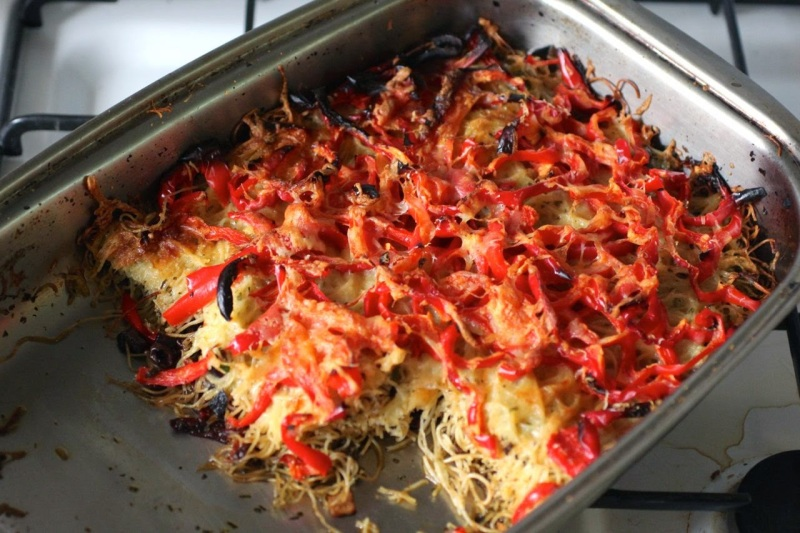 pepper and pasta bake-3
