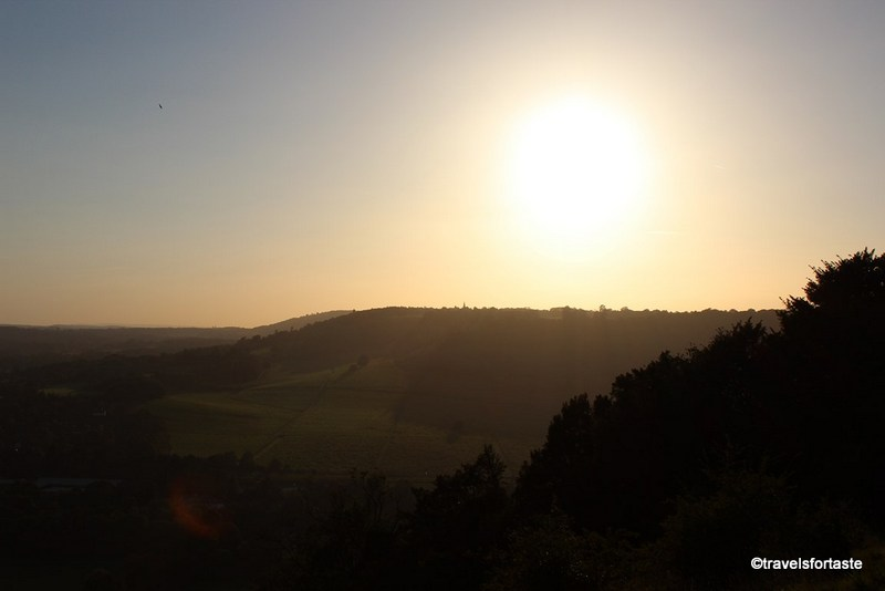 Family days out - Sunset at Box Hill, Surrey