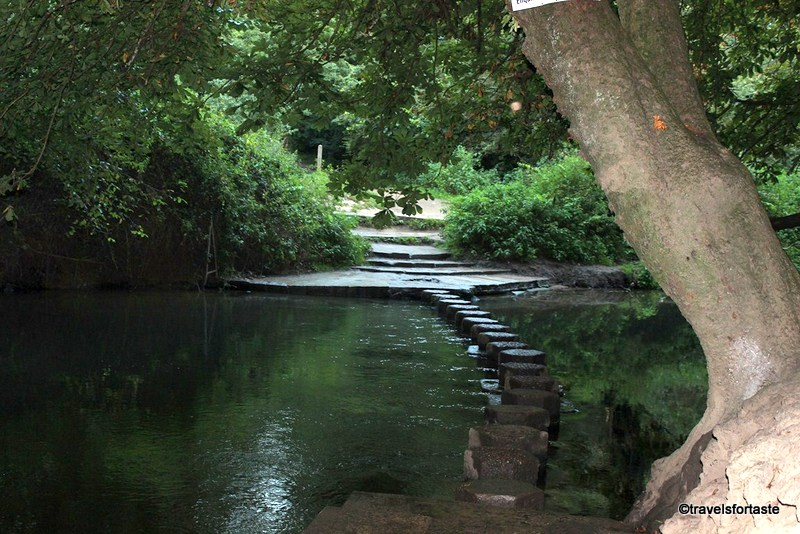 Family days out - Stepping stones at Box Hill, Surrey