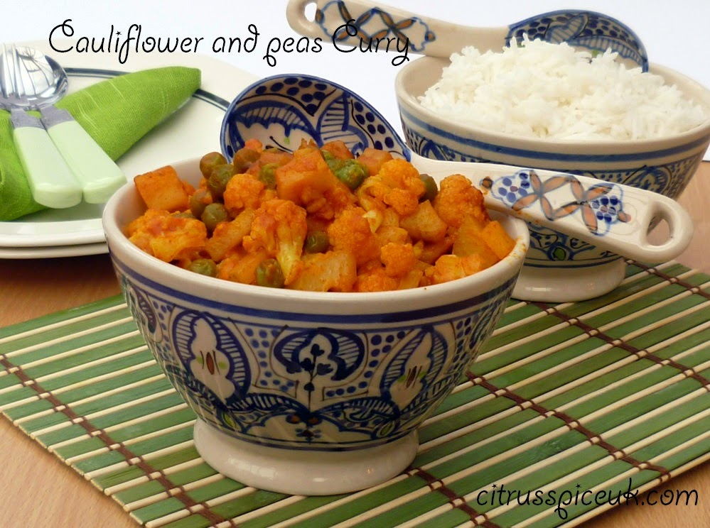 Cauliflower and peas curry 3b