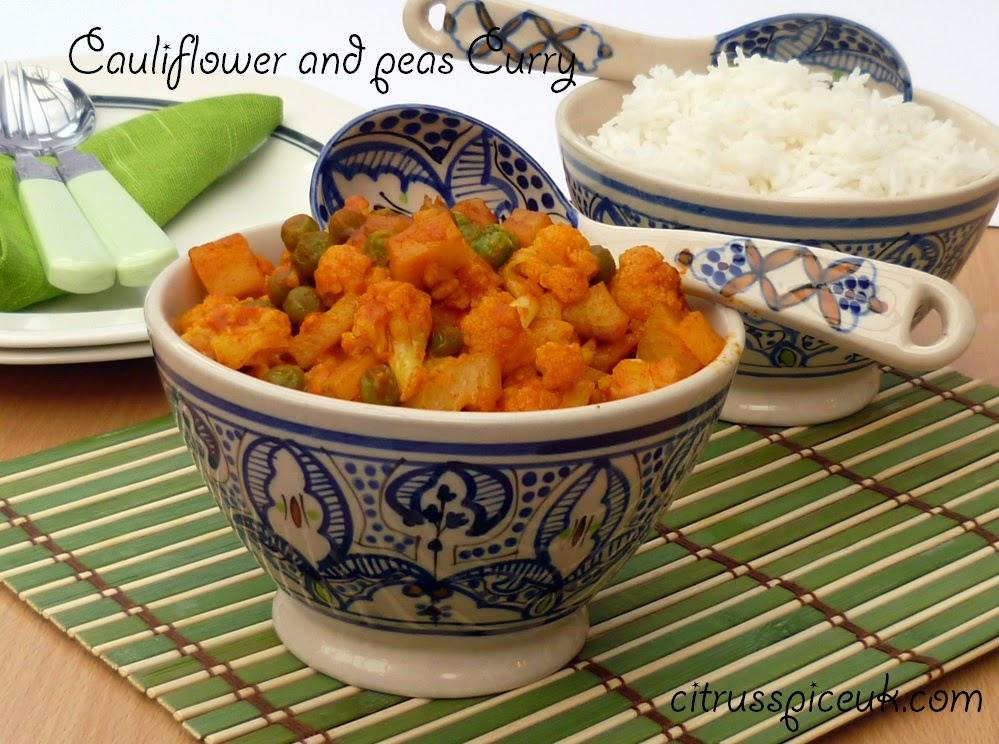 Cauliflower and peas curry 3b