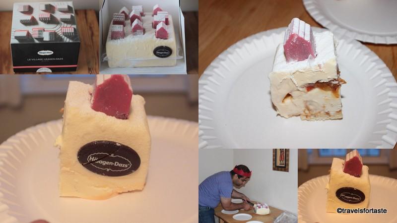 1-Le Village Haagen Dasz Ice Cream Cake - at Jools party1