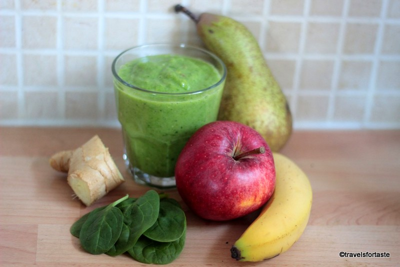 Avocado, Spinach and Fruity Green Smoothie - Bursting with the goodness your body NEEDS every day!