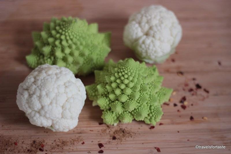 Mini Cauliflower and Romasque  Cauliflowers