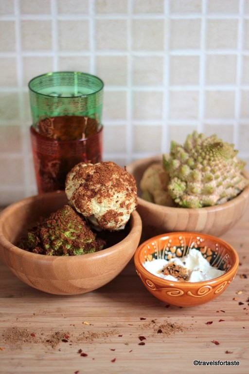 Mini Roasted Cauliflower with a Dukkah dip