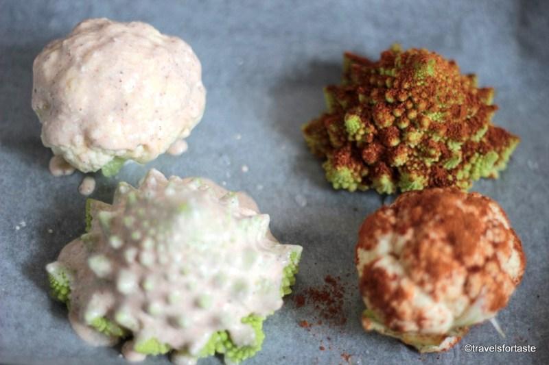 Mini Cauliflower and Romasque  Cauliflowers marinated