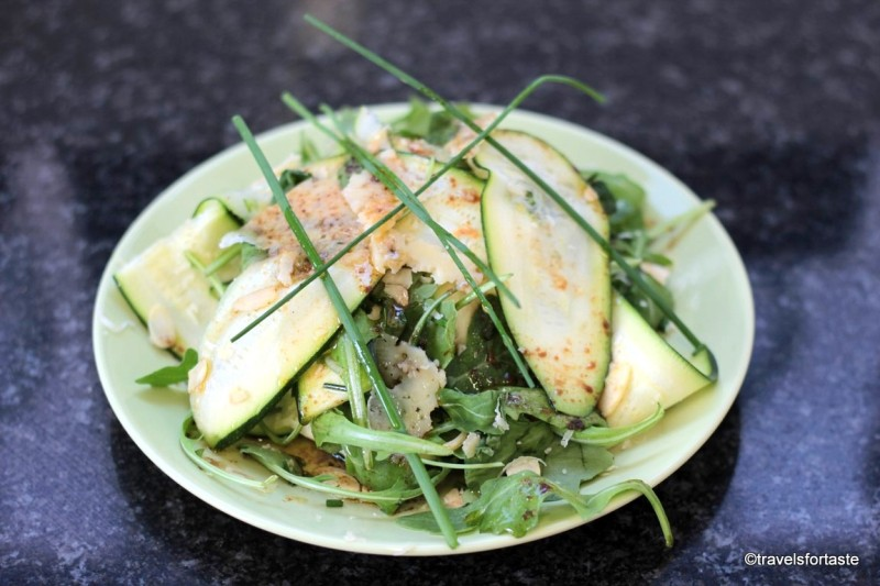 Raw Courgette Salad with Västerbottensost